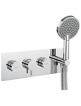 Crosswater Dial Bath - Shower Valve With Kai Lever Trim And Ethos Handset