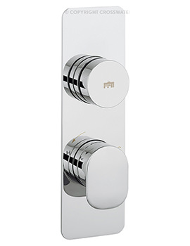 Crosswater Dial Pier Portrait Trim 1 Control Thermostatic Shower Valve