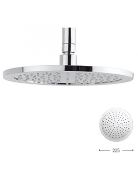 Crosswater Dial 225mm Chrome Fixed Shower Head