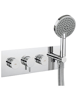 Crosswater Dial Shower Valve With Kai Lever Trim And Ethos 3 Mode Handset