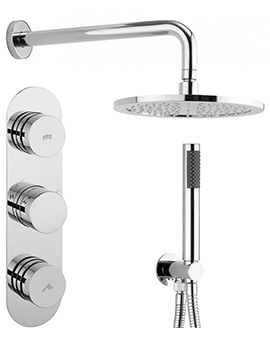 Crosswater Dial-Central 2 Control Valve With 1 Mode Handset And Shower Head