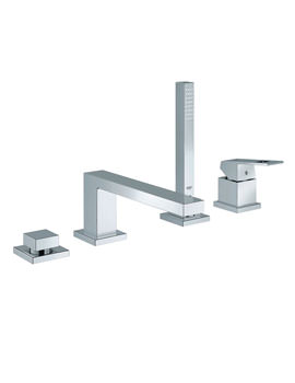 Grohe Eurocube Single Lever 4 Hole Bath Combination