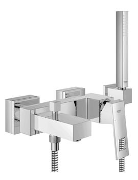 Grohe Eurocube Wall Mounted Bath Shower Mixer Tap With Shower Set