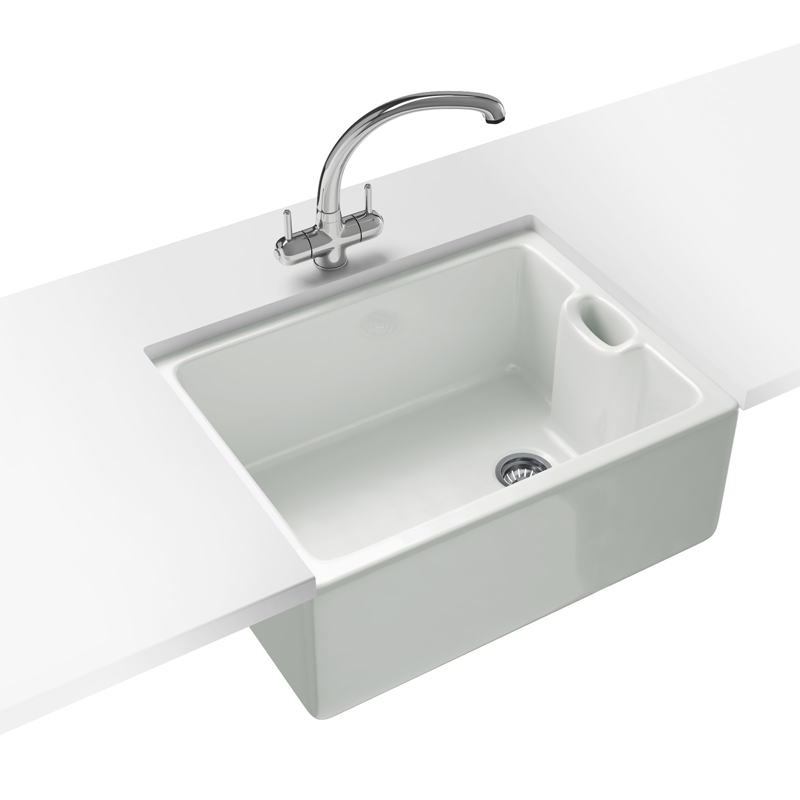Belfast Bathroom Sink : ... Brand New Franke Belfast BAK 710 Propack - Ceramic White Sink And Tap