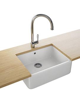 Franke Belfast VBK 710 Designer Pack - Ceramic 1.0 Bowl Sink And Tap