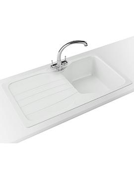Franke Calypso Propack COG 611 Fragranite Polar White Kitchen Sink And Tap