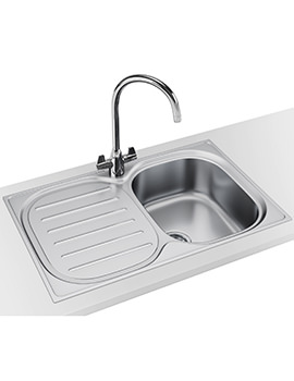 Franke Compact Plus CPX P 611 780 DP - Stainless Steel LHD Sink And Tap