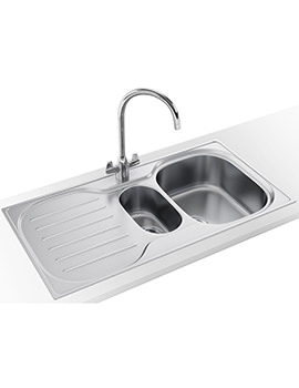 Franke Compact Plus CRX P 651 Designer Pack - Stainless Steel Sink And Tap