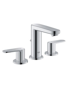 Grohe Europlus 3 Hole Basin Mixer Tap With Pop Up Waste Chrome