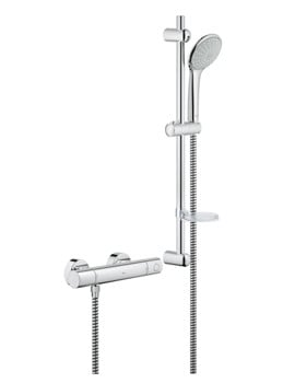Grohe Grohtherm 1000 Thermostat Shower Mixer With Euphoria Shower Set
