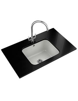 Franke VBK 110 50 Designer Pack - White Ceramic Sink And Tap