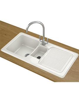 Franke VBK 651 DP - Ceramic 1.5 Bowl Right Hand Drainer Sink And Tap
