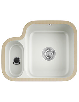 Franke VBK 160 Ceramic 1.5 Bowl White Undermount Sink