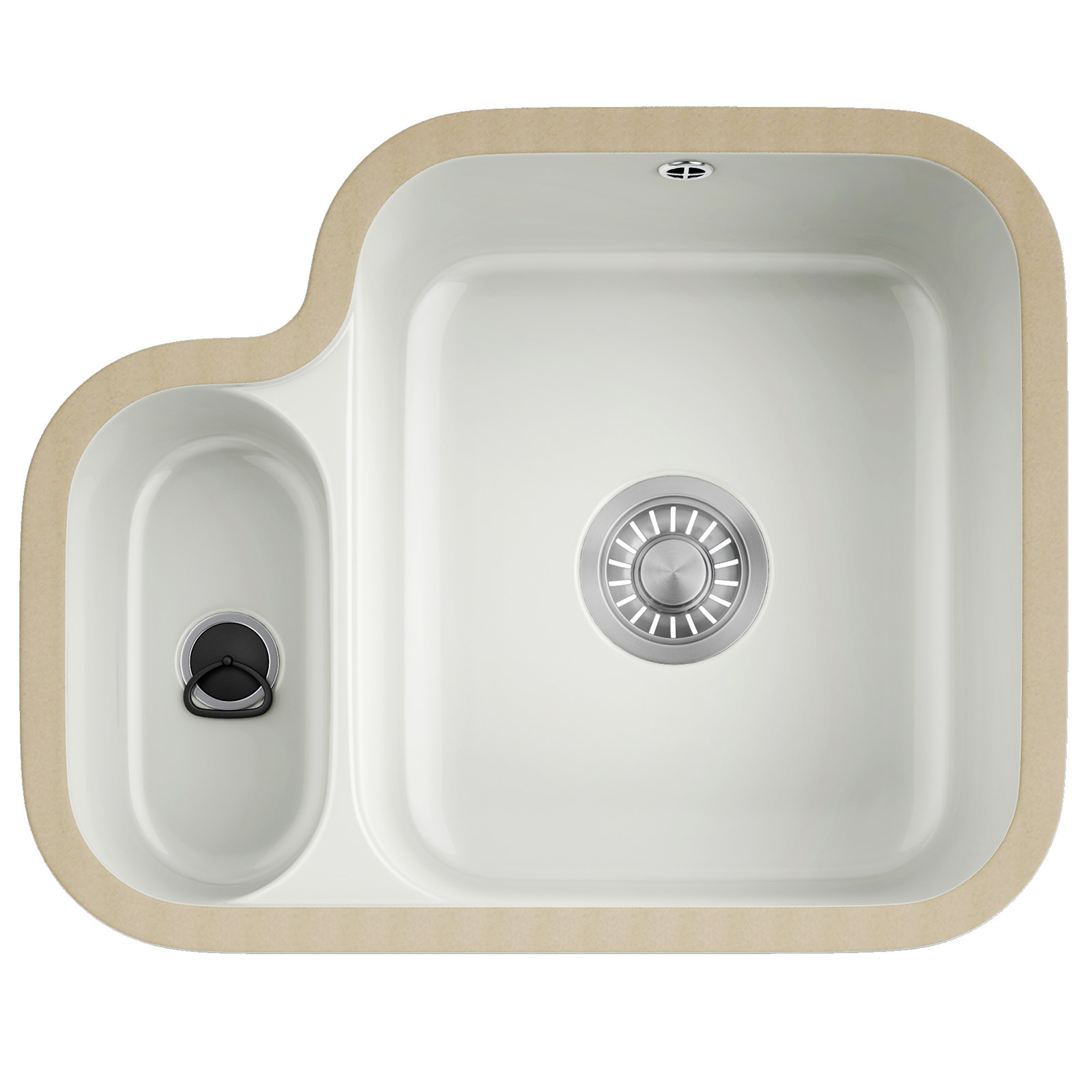 ... Sinks Brand New Franke VBK 160 Ceramic 1.5 Bowl White Undermount Sink