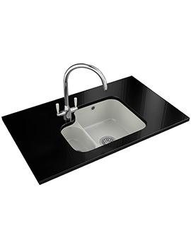 Franke VBK 160 Designer Pack - White Ceramic 1.5 Bowl Sink And Tap