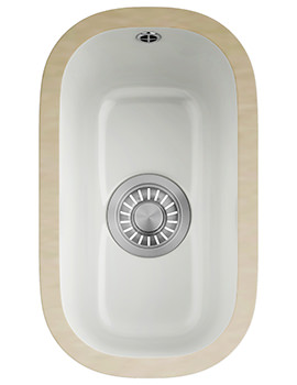 Franke VBK 110 21 Ceramic 1.0 Bowl White Undermount Sink