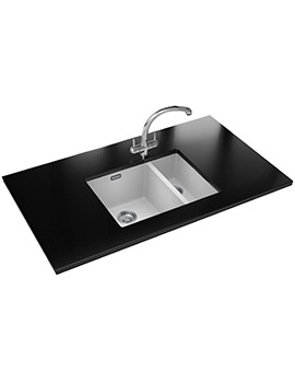 Franke Sirius SID 160 Propack - Tectonite Polar White Sink And Tap