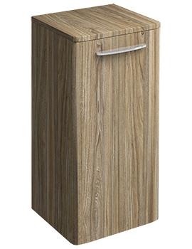 Twyford E100 Square Grey Ash Wood 330 x 655mm Small Side Furniture Unit
