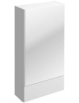 Twyford E100 Square White 464 x 850mm Mirror Storage