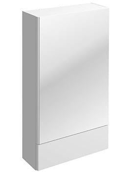 Twyford E100 Square White 493 x 850mm Mirror Cabinet