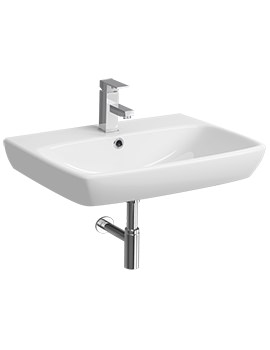 Twyford E100 Square 1 Tap Hole 650 x 480mm Washbasin