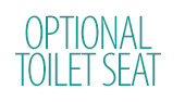 Optional Toilet Seat and Cover