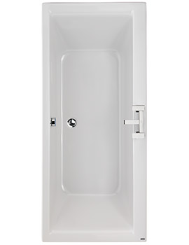 Twyford Athena 1700 x 750mm 2 Tap Hole Acrylic Double Ended Bath