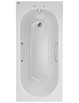 Twyford Opal 1500 x 700mm 2 Tap Hole Acrylic Bath With Tread And Grips