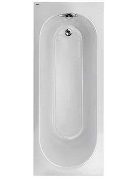Twyford Opal 1700 x 700mm No Tap Hole 130 Litres Acrylic Bath With Tread