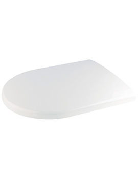 Croydex Fenton Soft Close D-Shaped Toilet Seat White