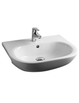Essential Lily 52cm Semi Recessed Basin