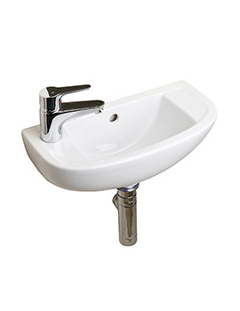 Essential Lily 45cm 1TH Left Hand Slimline Basin