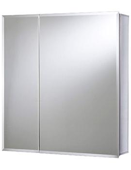 Croydex Newton Bi-View Aluminium Mirror Cabinet 610 x 660mm