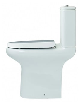 Essential Lily Comfort Height Open Back WC Pan With Soft Close Seat