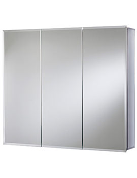 Croydex Kennet Tri-View Aluminium Mirror Cabinet 914 x 660mm