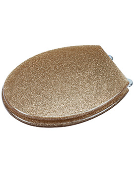 Croydex Gold Glitter Toilet Seat