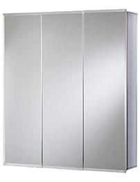 Croydex Heacham Triple Door Tri-View White Steel Cabinet 762 x 762mm