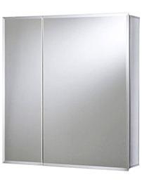 Croydex Shawdon Double Door Bi-View White Steel Cabinet 762 x 762mm