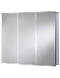 Croydex Burwell Triple Door Tri-View White Steel Cabinet 1219 x 762mm