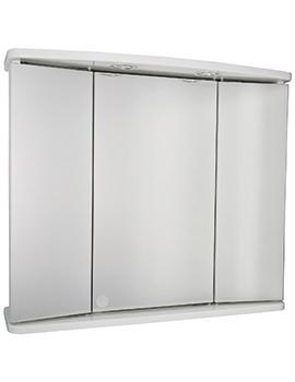 Croydex Marden Tri-View Illuminated Mirror Cabinet 690 x 600mm