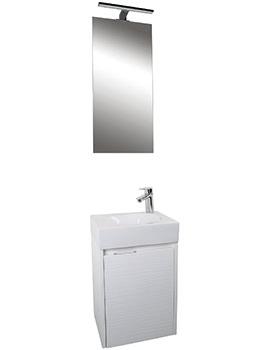 Croydex Beaulieu White Vanity Unit And Mirror Set