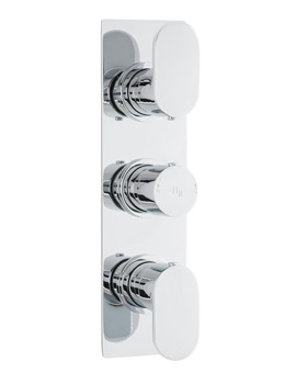 Hudson Reed Reign Chrome Triple Thermostatic Concealed Shower Valve
