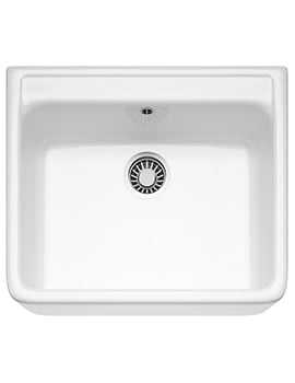 Franke Belfast VBK 710 Ceramic 1.0 Bowl White Kitchen Sink