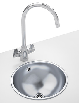 Franke Rondo RNX 610 DP - Stainless Steel Round Inset Sink And Tap