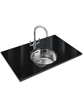 Franke Rotondo RUX 110 Designer Pack - Stainless Steel Sink And Tap