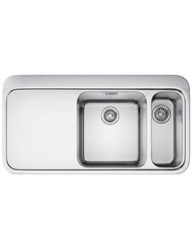 Franke Sinos SNX 261 Stainless Steel Left Hand Drainer 1.5 Bowl Inset Sink