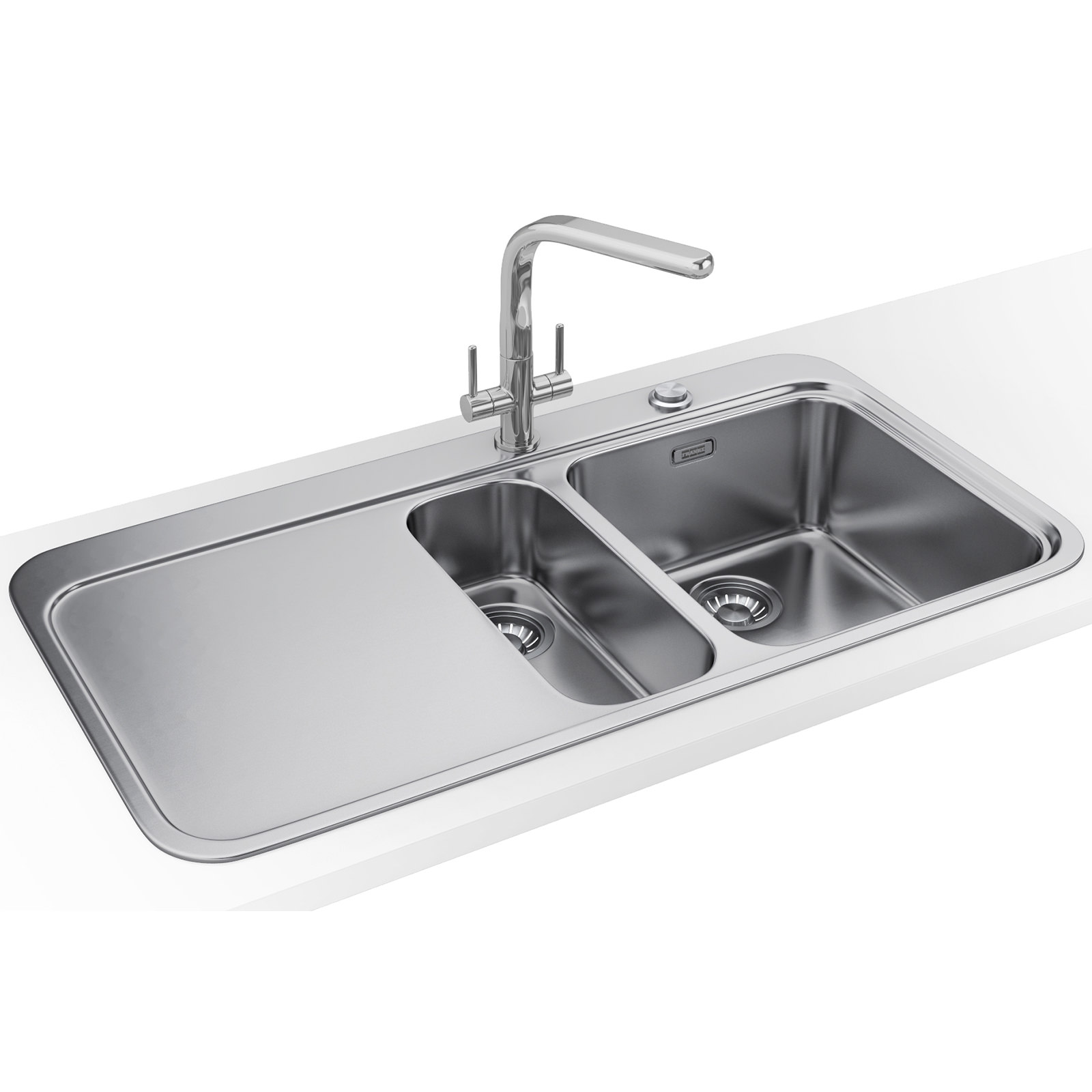 Franke Sinos SNX 251 DP - Stainless Steel 1.5 Bowl LHD Sink And Tap