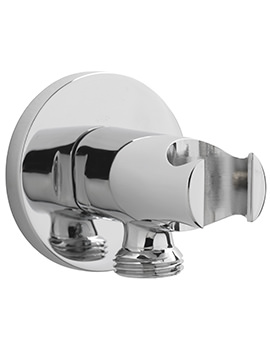 Sagittarius Round Wall Mounted Shower Outlet With Handset Bracket