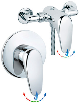 Sagittarius Genoa Exposed Or Concealed Thermostatic Shower Valve