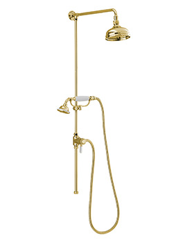 Sagittarius Churchmans Shower Rigid Riser With Handset And Head Gold